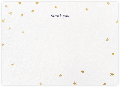 Nightly - White/Gold - Paperless Post - Wedding thank you notes