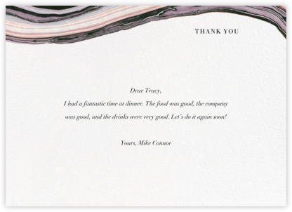 Marbleized (Stationery) - Kelly Wearstler - Online thank you notes