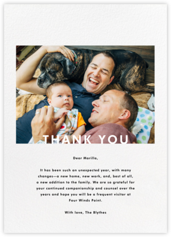 Horizontal Photo on Tall - Paperless Post - General thank you notes