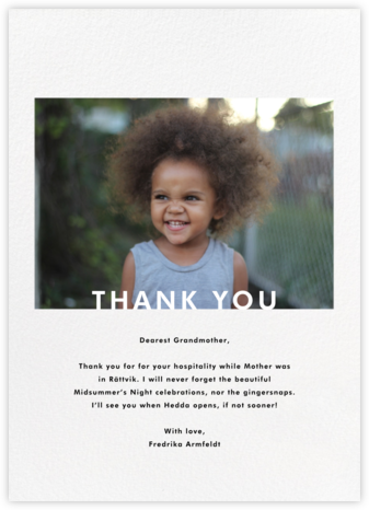 Horizontal Photo on Tall - Paperless Post - Kids' thank you notes