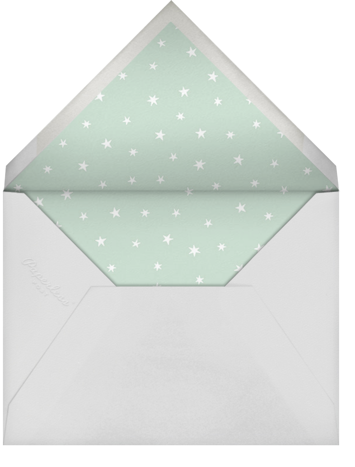 Starry Slumber (Thank You) - Gold - Paperless Post - Baby and kids' - envelope back