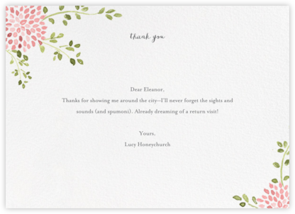Dahlias (Thank You) - Blossom - Paperless Post - General thank you notes