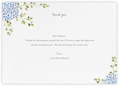 Dahlias (Thank You) - Blue - Paperless Post