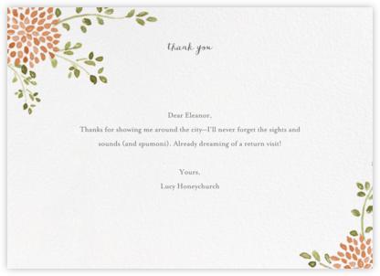 Dahlias (Thank You) - Pumpkin - Paperless Post