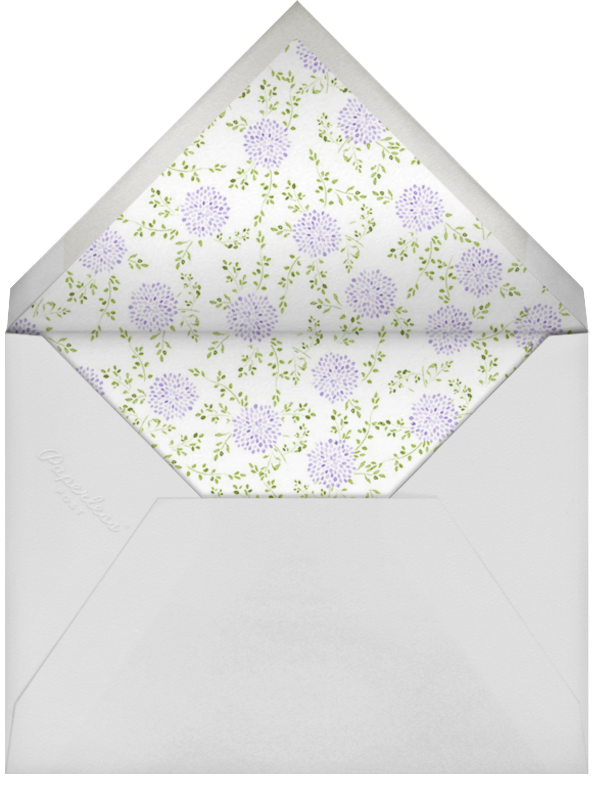 Dahlias (Thank You) - Purple - Paperless Post - Envelope