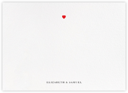 Heart Dot (Stationery) - Paper + Cup - Personalized Stationery