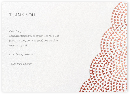 Savoy (Stationery) - Rose Gold - Paperless Post - General thank you notes