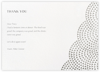 Savoy (Stationery) - Silver - Paperless Post