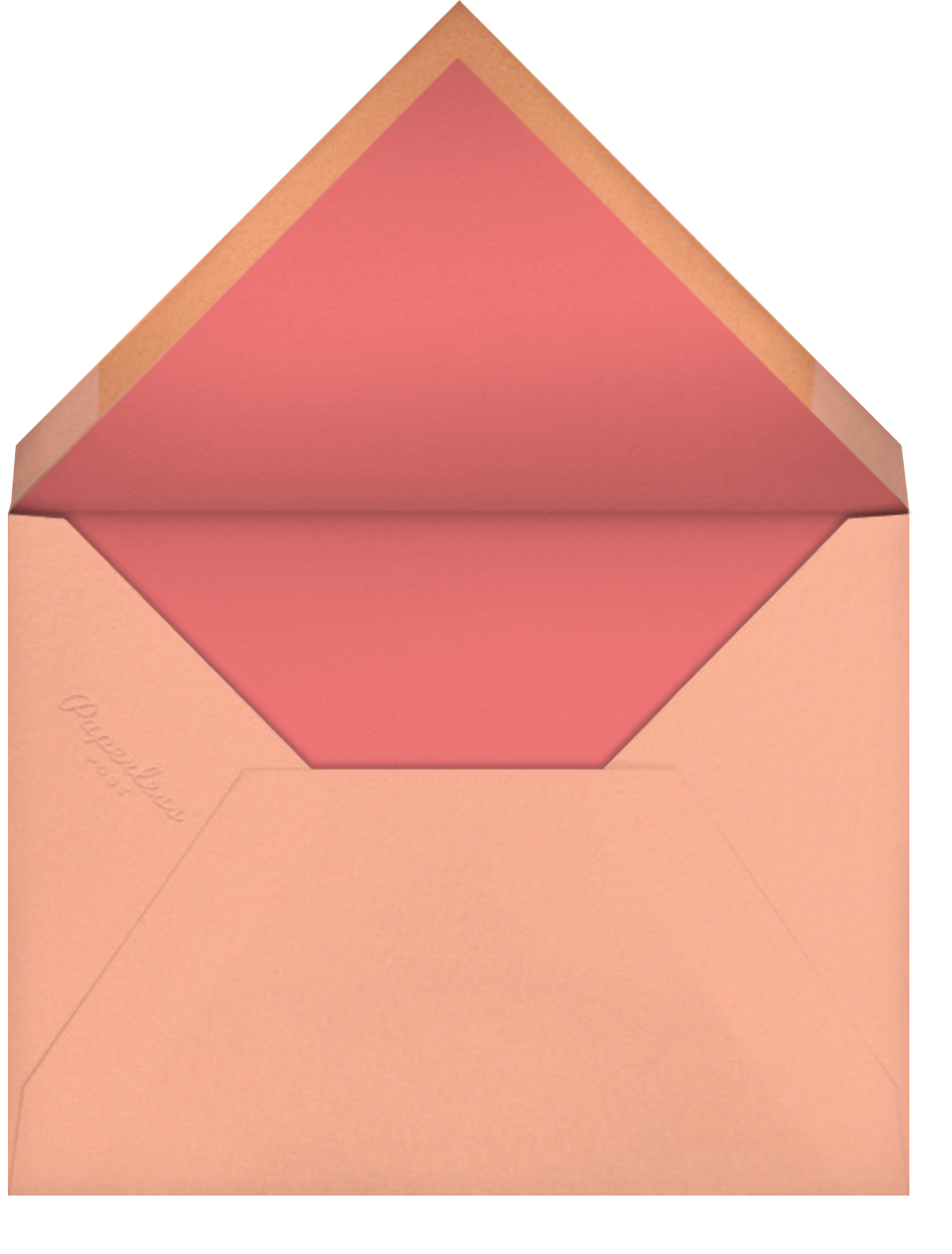 Featured Thanks (Photo) - Sherbet - Paperless Post - Envelope