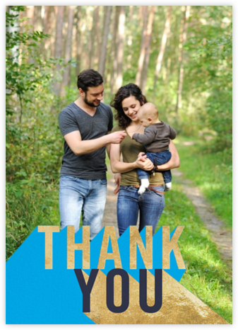 Featured Thanks (Photo) - Capri - Paperless Post - General thank you notes
