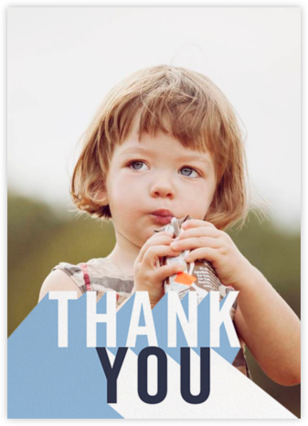 Featured Thanks (Photo) - Spring Rain - Paperless Post - Kids' thank you notes