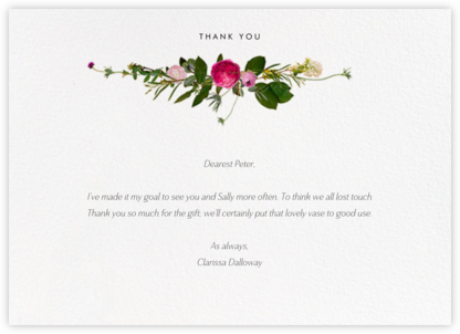 Belvoir (Stationery) - White - Paperless Post - Thank you notes