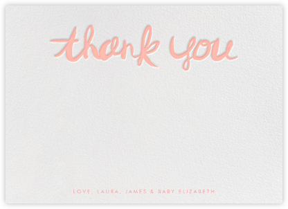 Brushed Thank You - Rose - Linda and Harriett - Kids' thank you notes