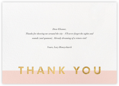 Field of Thanks - Meringue/Gold - Paperless Post - General thank you notes
