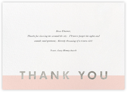 Field of Thanks - Meringue/Silver - Paperless Post - Kids' thank you notes