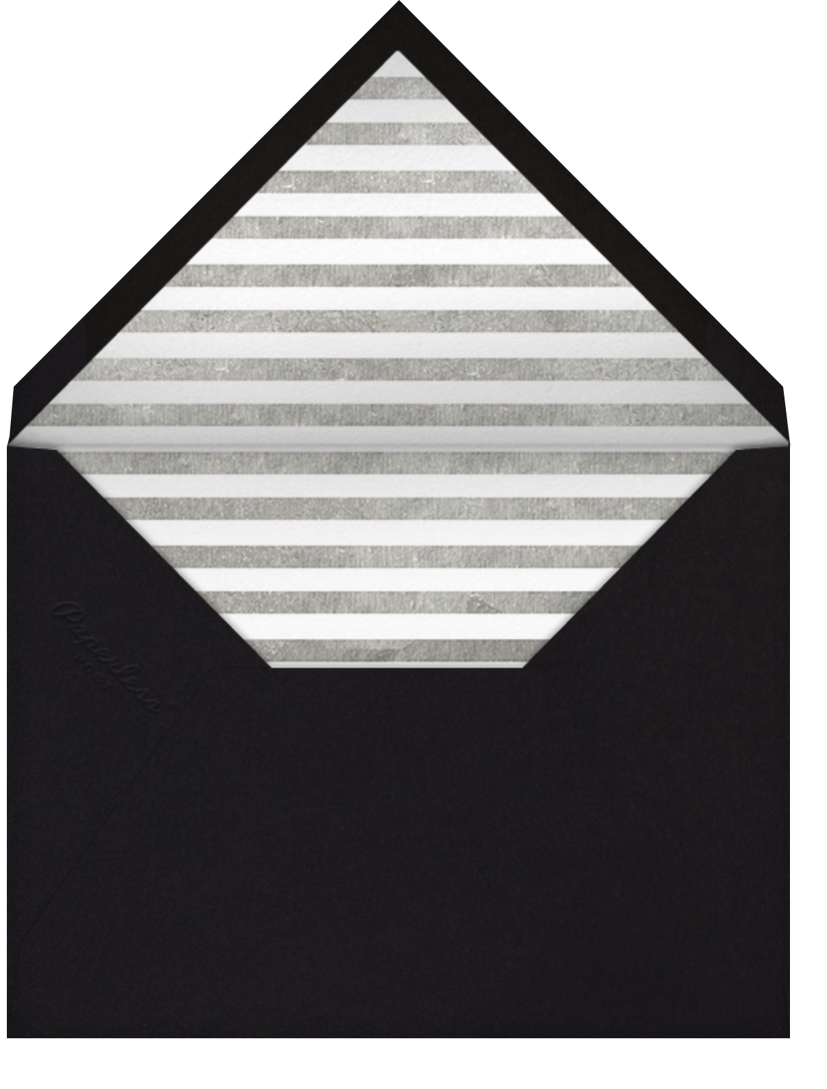 Field of Thanks - White/Silver - Paperless Post - General - envelope back