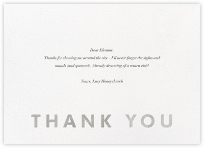 Field of Thanks - White/Silver - Paperless Post -