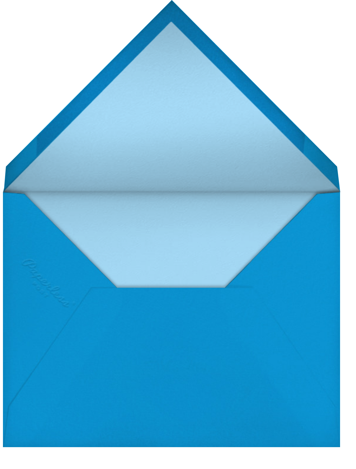 Carnaby Thanks - Blue/Gold - Paperless Post - Envelope