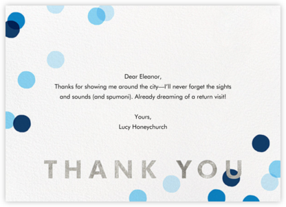Carnaby Thanks - Blue/Silver - Paperless Post - Online greeting cards