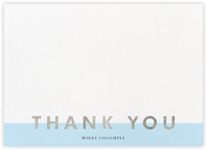 Field of Thanks (Stationery) - Glacier/Silver - Paperless Post