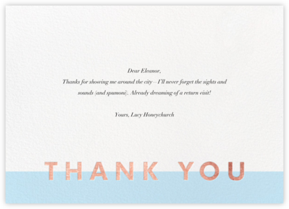 Field of Thanks - Glacier/Rose Gold - Paperless Post -