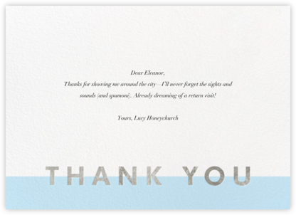Field of Thanks - Glacier/Silver - Paperless Post -