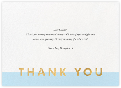 Field of Thanks - Glacier/Gold - Paperless Post - Alicia's Test