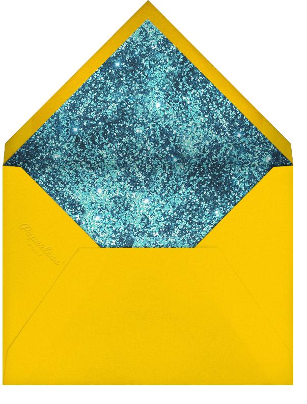 Alphabet Turquoise - Mary Katrantzou - Cocktail party - envelope back
