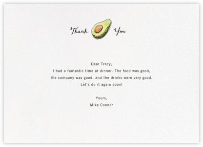 Avocadabra - Paperless Post - General thank you notes