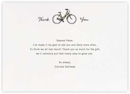 Pedal Pusher - Paperless Post - General thank you notes