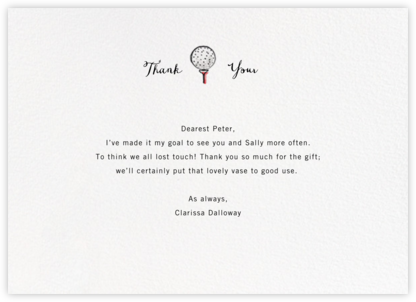 Back Nine - Paperless Post - Online thank you notes