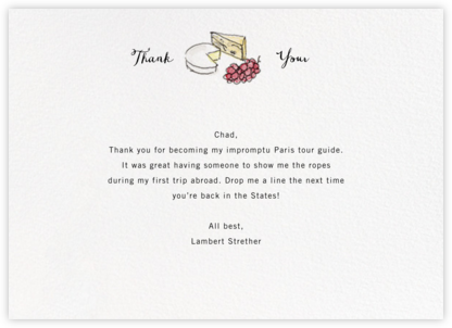 Monsieur Affineur - Paperless Post - General thank you notes