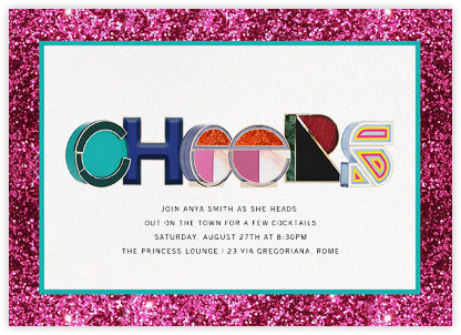 Alphabet Fuschia - Mary Katrantzou - Dinner Party Invitations