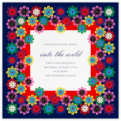 Flower Rainbow - Mary Katrantzou - Summer Party Invitations