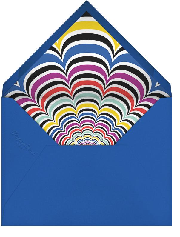 Optic Flower - Mary Katrantzou - Adult birthday - envelope back