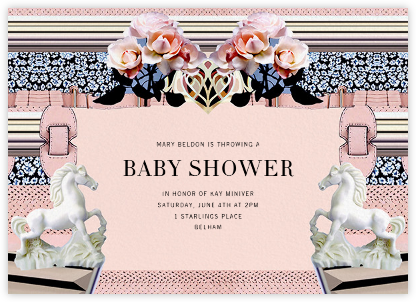 Powdy - Mary Katrantzou - Baby shower invitations