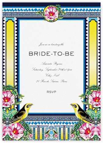 Rodizio - Mary Katrantzou - Bridal shower invitations