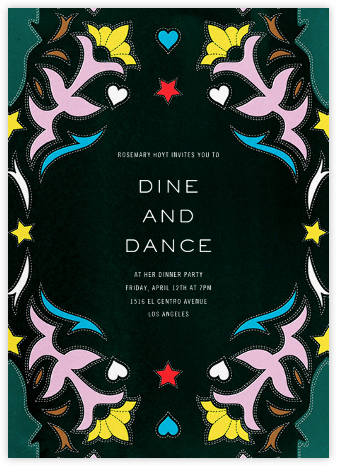 Showmanship - Mary Katrantzou - Dinner party invitations