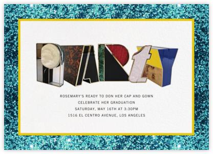 Alphabet Turquoise - Mary Katrantzou - Celebration invitations