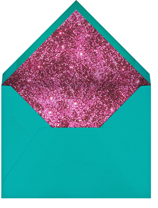 Alphabet Fuschia - Mary Katrantzou - New Year's Eve - envelope back