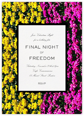 Strip Valley - Mary Katrantzou - Bachelorette party invitations
