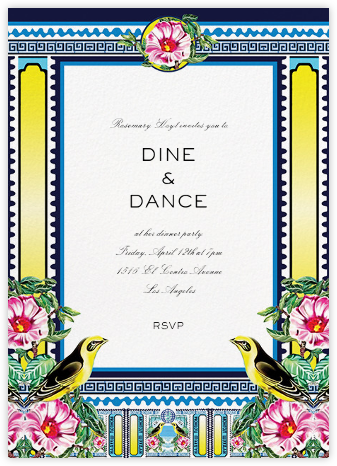 Rodizio - Mary Katrantzou - Dinner Party Invitations