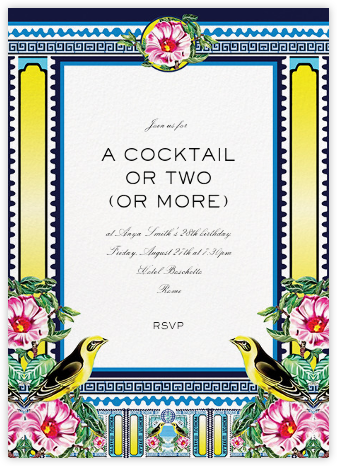 Rodizio - Mary Katrantzou - Adult Birthday Invitations