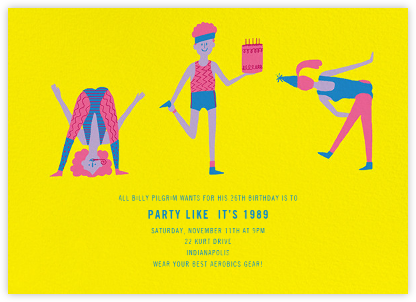 Sweating for the Oldies - Paperless Post - Birthday invitations