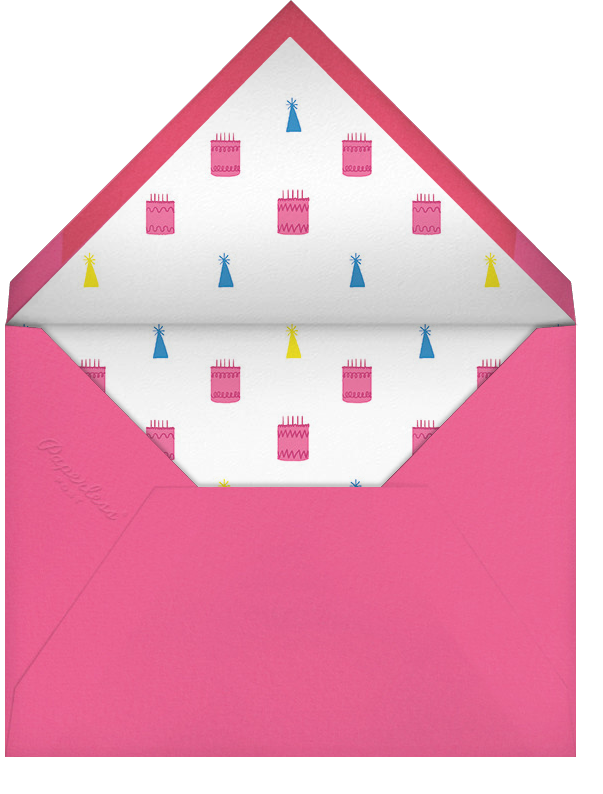 Sweating for the Oldies - Paperless Post - Adult birthday - envelope back