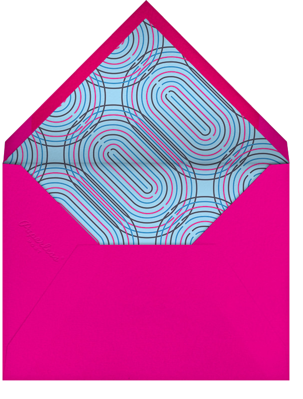 Neon Capitals (Forty) - Paperless Post - Adult birthday - envelope back