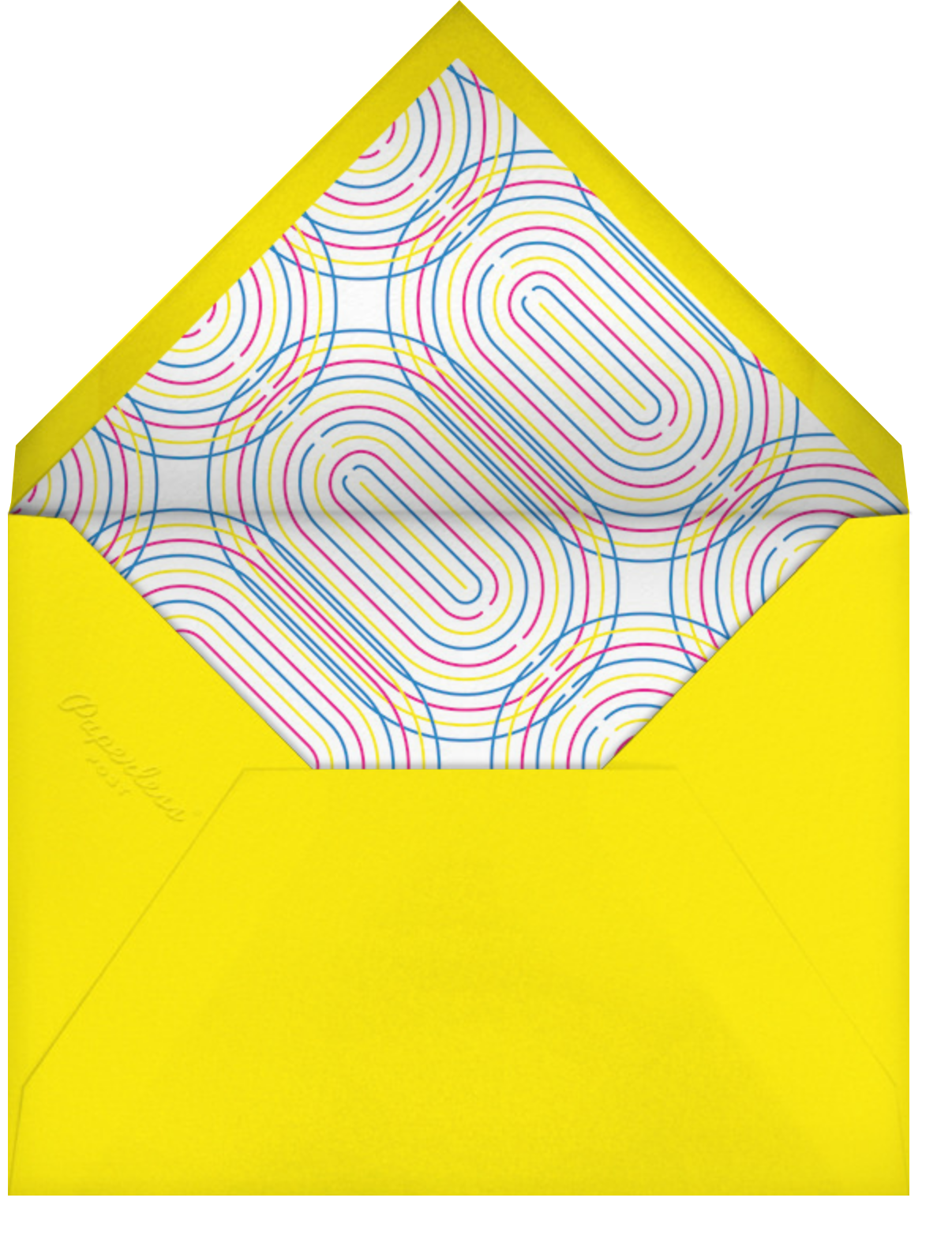 Neon Decades (Fifty) - Paperless Post - Adult birthday - envelope back
