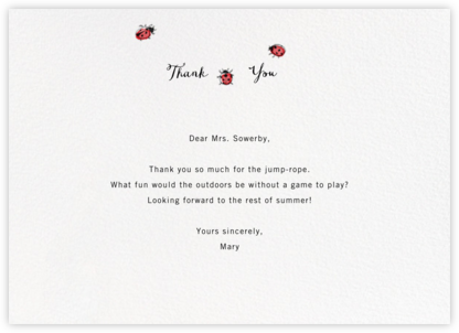 Lady Luck - Paperless Post - General thank you notes