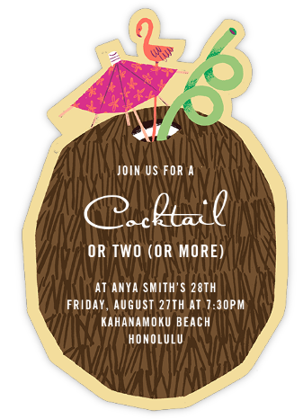 Lime in My Coconut - Paperless Post - Adult birthday invitations
