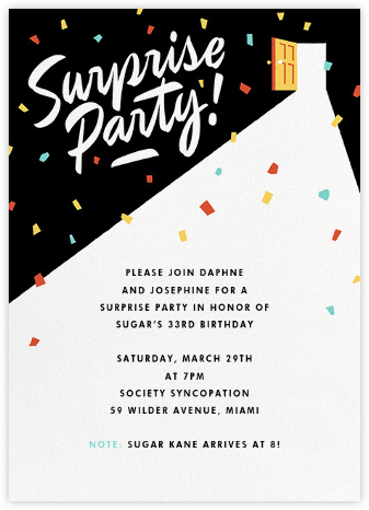 Surprise party invitations online at paperless post last door on the left filmwisefo Image collections